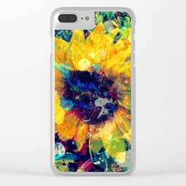 Sunflower Batik Clear iPhone Case