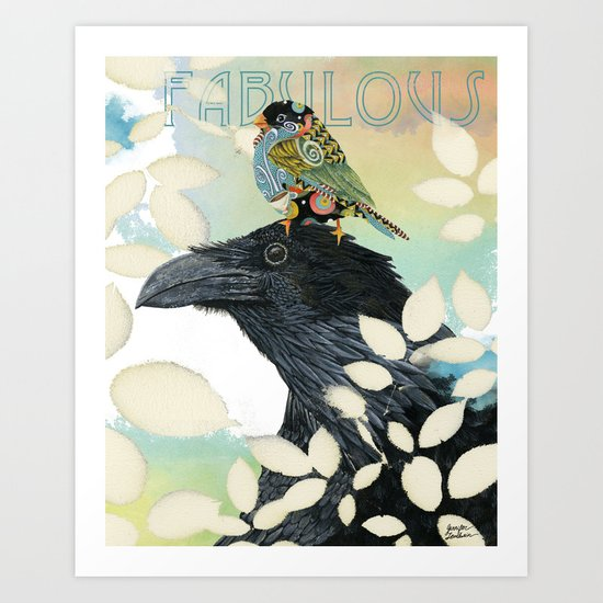 Feeling Fabulous Birds Art Print