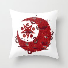 The Blood Moon Compels You to Fuck Shit Up Throw Pillow