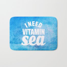 I Need Vitamin Sea Blue Bath Mat