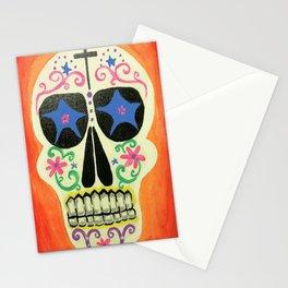 Orange Skull Stationery Cards