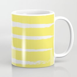 Irregular Stripes Yellow Coffee Mug