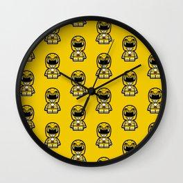 Power Chibi Yellow Ranger Wall Clock