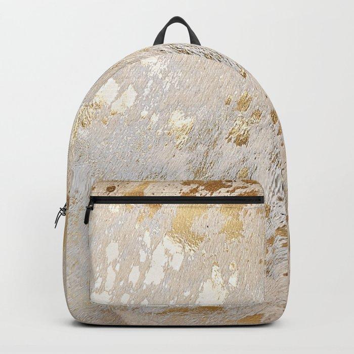 Gold Hide Print Metallic Rucksack