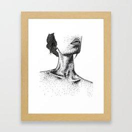 COLLARBONE STIPPLING Framed Art Print