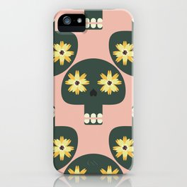 Funny pattern with cute skulls iPhone Case
