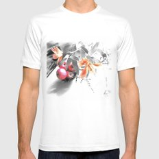 apples and lilies MEDIUM Mens Fitted Tee White