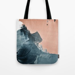 Renew: a minimal abstract piece in coral and blue by Alyssa Hamilton Art Tote Bag