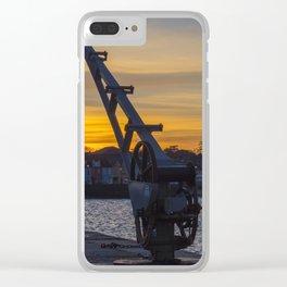Donaghadee Crane - Sunset Clear iPhone Case