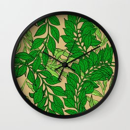 Green Vines2 Wall Clock