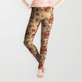 Project 397   Red Roses on Gold Leggings