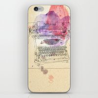 mercedes iPhone & iPod Skins featuring typewriter by Sabine Israel