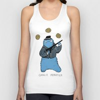 cookie monster Tank Tops featuring Cookie Mobster by Sophie Corrigan