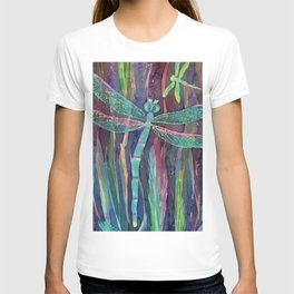 Dragonflies in blue T-shirt