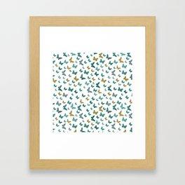 butterflies_yellow Framed Art Print
