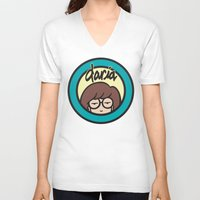 daria V-neck T-shirts featuring Daria Symbol by Marianna