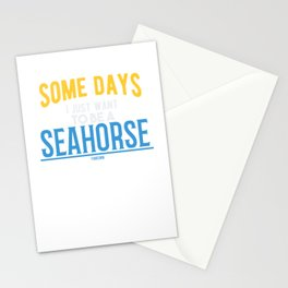 Seahorses underwater sea animal Stationery Cards