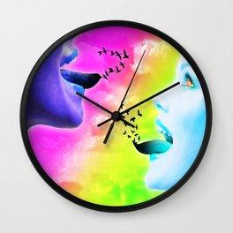 Lyrical Freedom Wall Clock