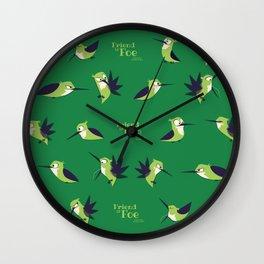 Friend Or Foe - Chad Pattern Wall Clock