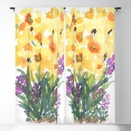 Spring Daffodil Patch Blackout Curtain