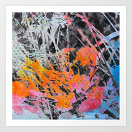 Multi Colored Abstract Nature I Art Print