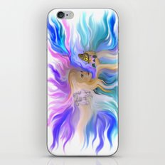 Woman Butterfly and Horse iPhone & iPod Skin