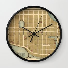 Map Of Beaufort 1865 Wall Clock