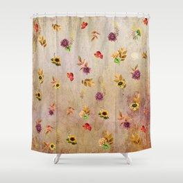 Fall Flower Festval Shower Curtain