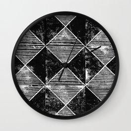 Chequers I Black Wall Clock