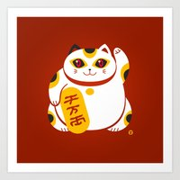 Lucky Cat 2 Art Print