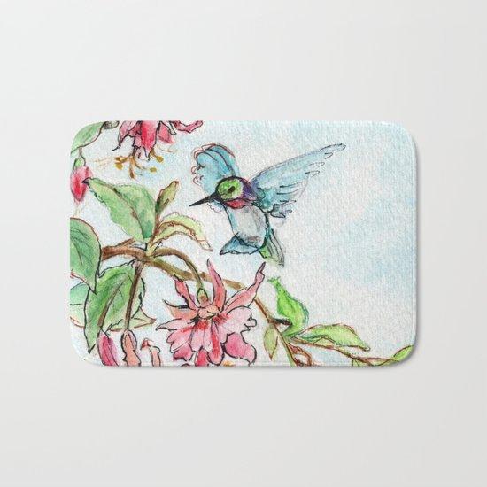 Honeysuckle Hummingbird Bath Mat