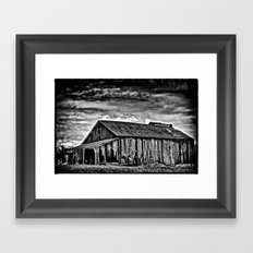 A Dark Barn Framed Art Print