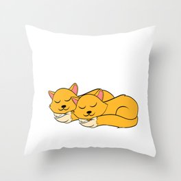 "A Real Tee For A Cat Lover You Saying ""Snuggle Is Real"" T-shirt Design Cats Animals Pets Kitten Throw Pillow"