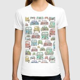 Classic Car Pattern T-shirt
