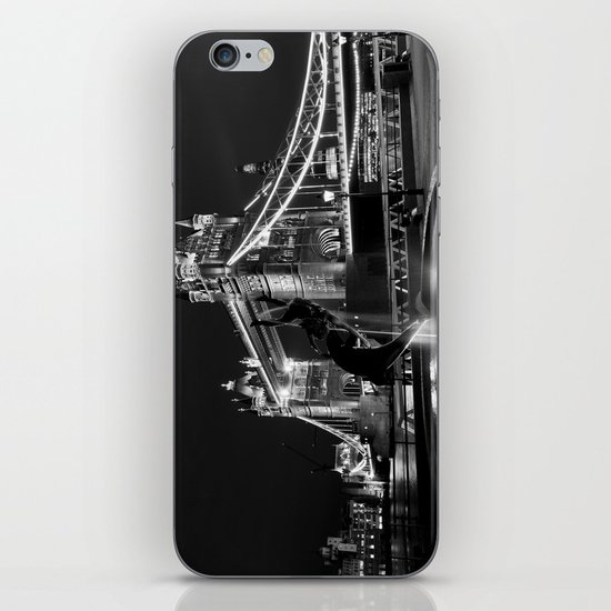 Tower Bridge And the Girl and dolphin Statue iPhone & iPod Skin
