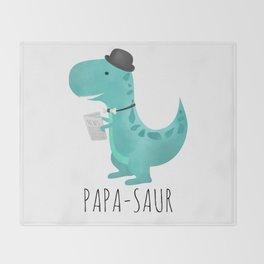 Papa-saur Throw Blanket