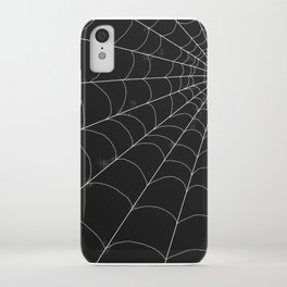 Spiderweb on Black iPhone Case