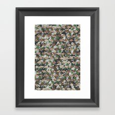 CUBOUFLAGE MULTI (SMALL) Framed Art Print