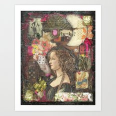 Lucky? Collage Art Print