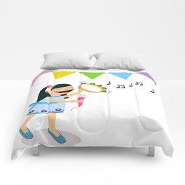 Happy little girl Comforters