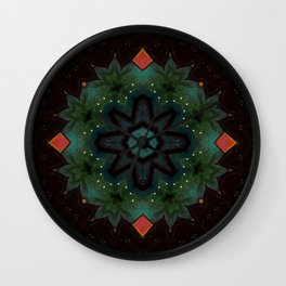 Ivy on the Iron Gate // Visionary Art Mandala Energy Meditation Yoga Bohemian Boho Witchy Decor Wall Clock
