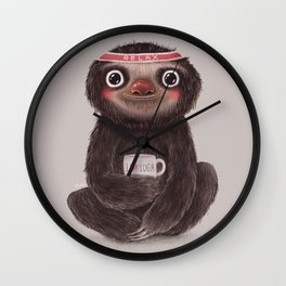 Sloth I♥yoga Wall Clock