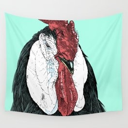 Rooster II Color Wall Tapestry