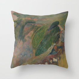 The Flageolet Player on the Cliff Throw Pillow