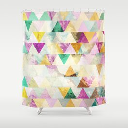 Triangles madness Shower Curtain