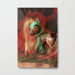 My Lil Zombie Crazy Lily Metal Print