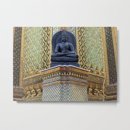 Buddha Statue at the Grand Palace Bangkok Metal Print