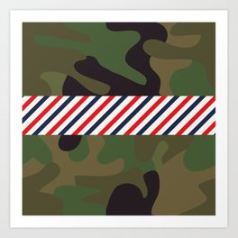 Barber Camo Pattern Art Print