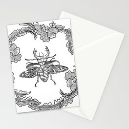 Flowers with beetle Stationery Cards