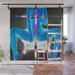 Cerulean Psychedelic Erotic Anonymous Nude Wall Mural